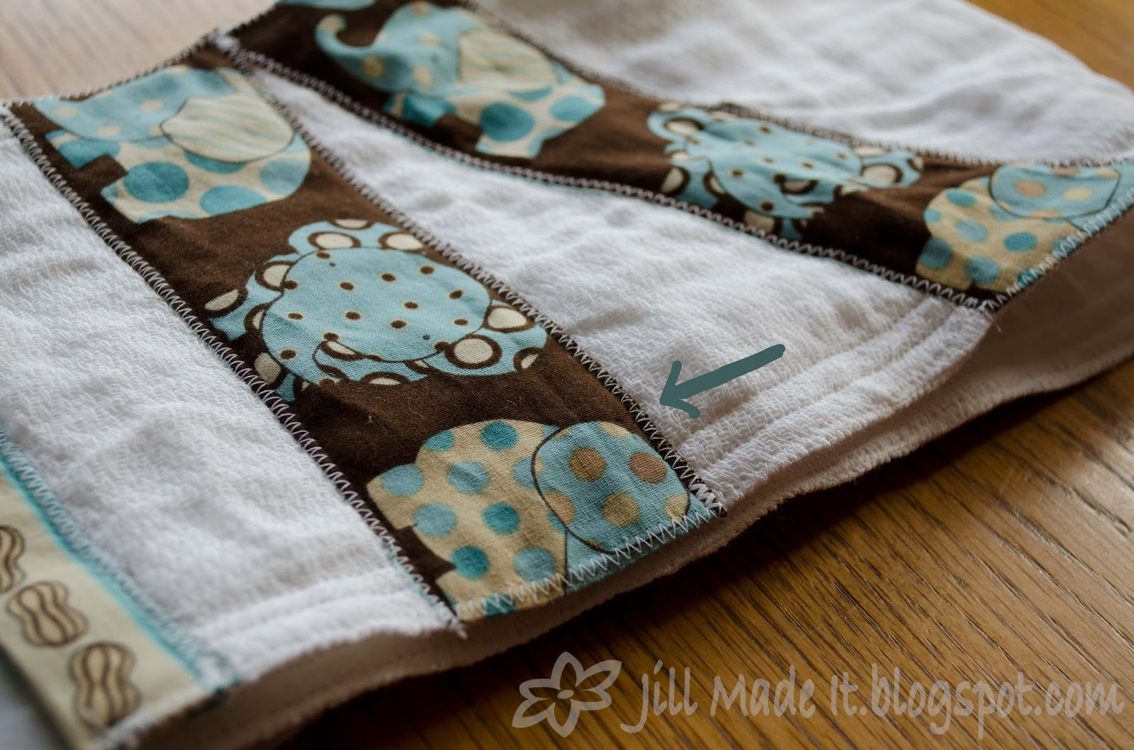 Jill made it diy burp cloths i just zig zag appliqud these cute little elephants onto the burp cloths like in this tutorial only simpler since its just a rectangle baditri Image collections