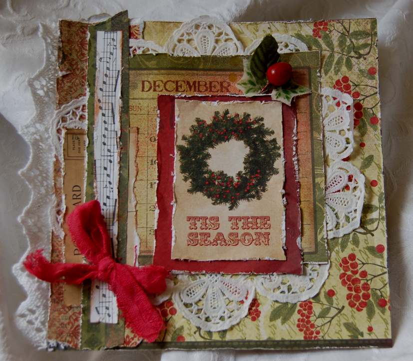 Lace Christmas Card Holder