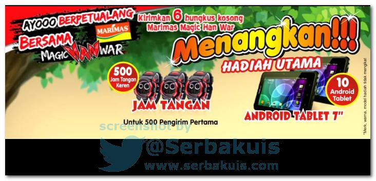 Promo Berhadiah 10 Tablet Android dan Jam Tangan Keren untuk 500 pengirim pertama