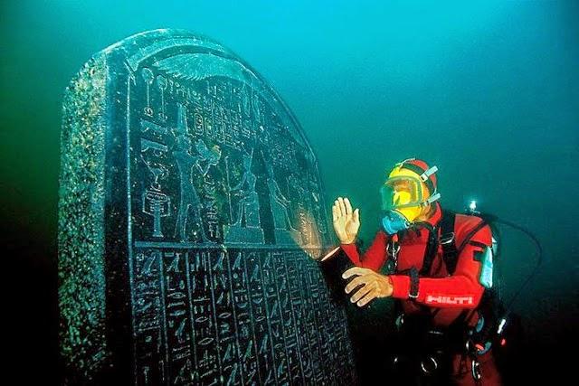 Kota Mesir Kuno Yang Hilang Di Dasar Laut Mediterranean