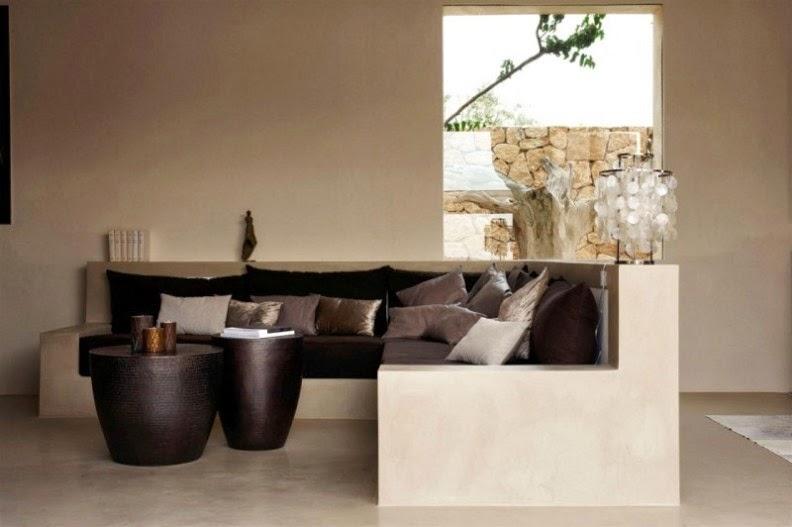 villa en Ibiza interior tonos tierra