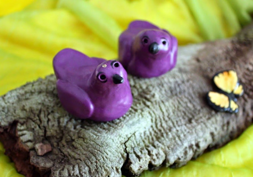 Purple Ceramic Birdies