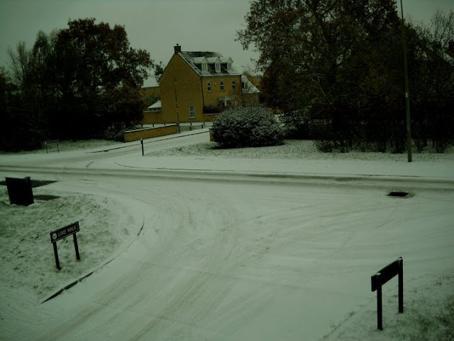Snow in Witney, England