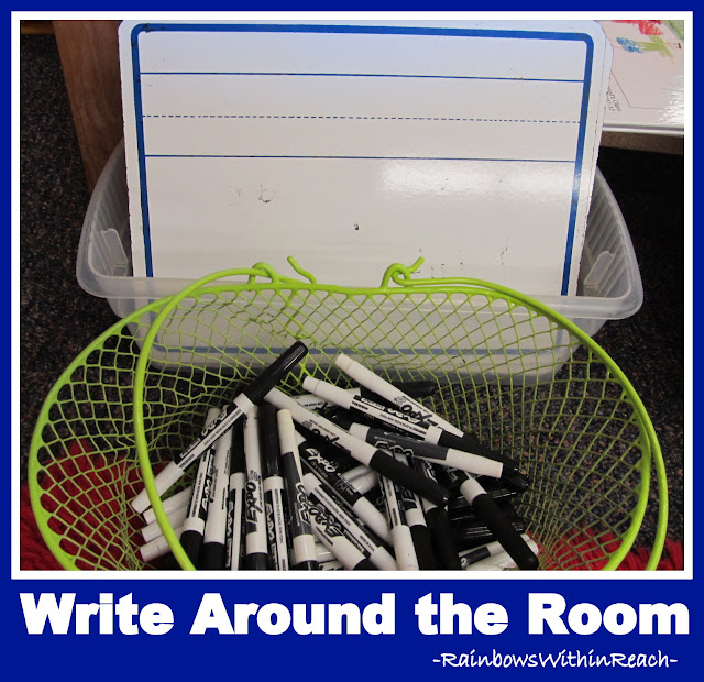 "photo of: ""Write Around the Room"" Wipe-off boards for use in Kindergarten"