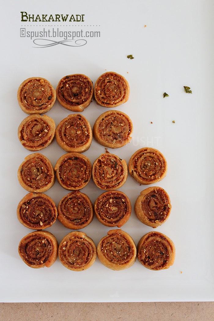 Spusht | Indian snack bhakarwadi
