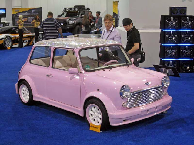 Girliest MINI ever from the West Coast Customs booth at the SEMA Show ...