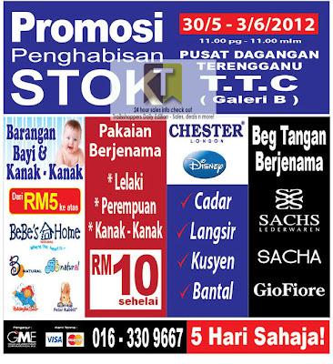 Stock Clearance Promotion-Terengganu 2012