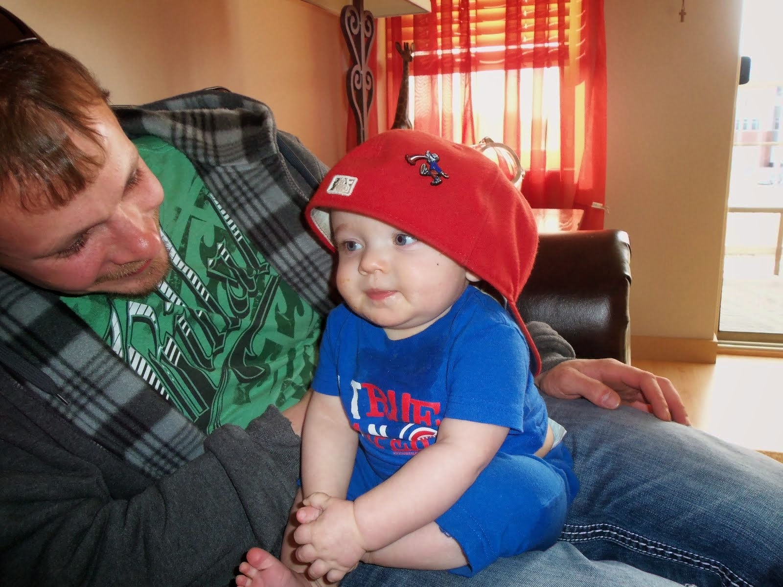 My fourth grandson Wrigley and his daddy Jordy