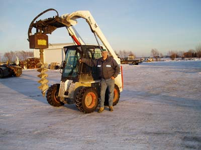 Skid Steer Auger Attachment5