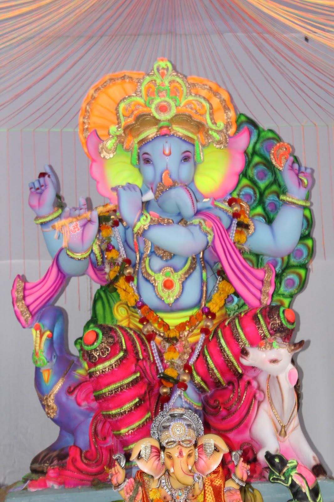 Ganeshotsav 2015 ganpati festival in mumbai for Background decoration for ganesh festival