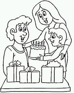 Dibujos del Dia del Padre para Pintar, parte 4
