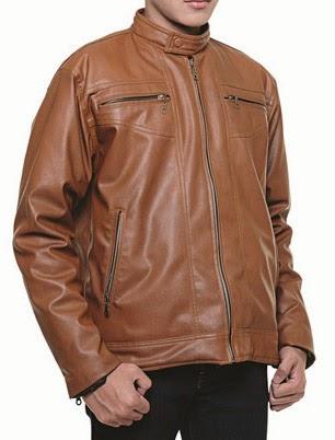 baju jaket kulit pria