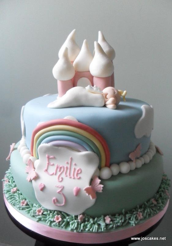 Jos Cakes Two Tier Princess Castle Birthday Cake