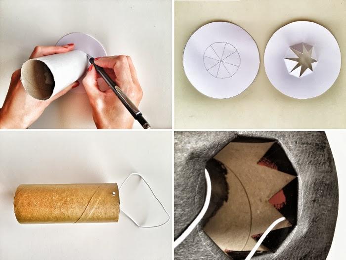 Cómo hacer coronas con rollos de papel higiénico en Recicla Inventa
