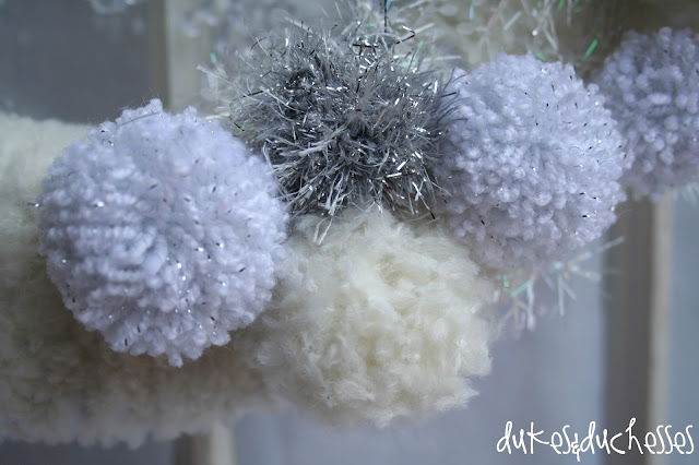 Lion Brand yarn winter wreath
