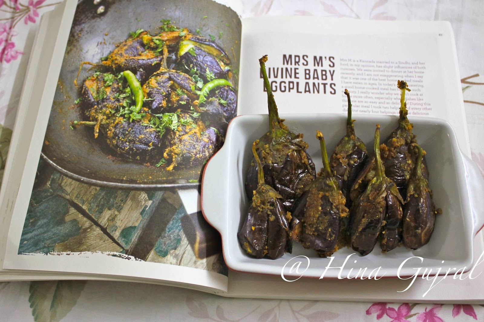 Mrs M's Divine Baby Eggplants from Diva Green - a vegetarian cookbook by Chef Ritu Dalmia. Find how to make baby eggplant