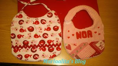 baberos para bebé, costura