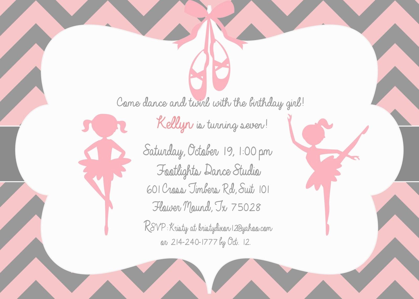 The Dixon Daily Kellyns Ballerina Birthday Party