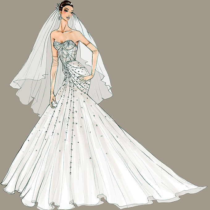 Kim Kardashian Wedding Dresses by Vera Wang | Alya Wedding Online