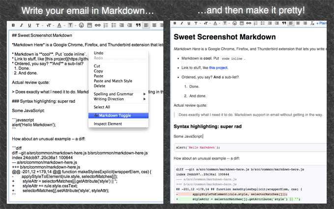 Write Email in Markdown on Chrome, Firefox, and Thunderbird