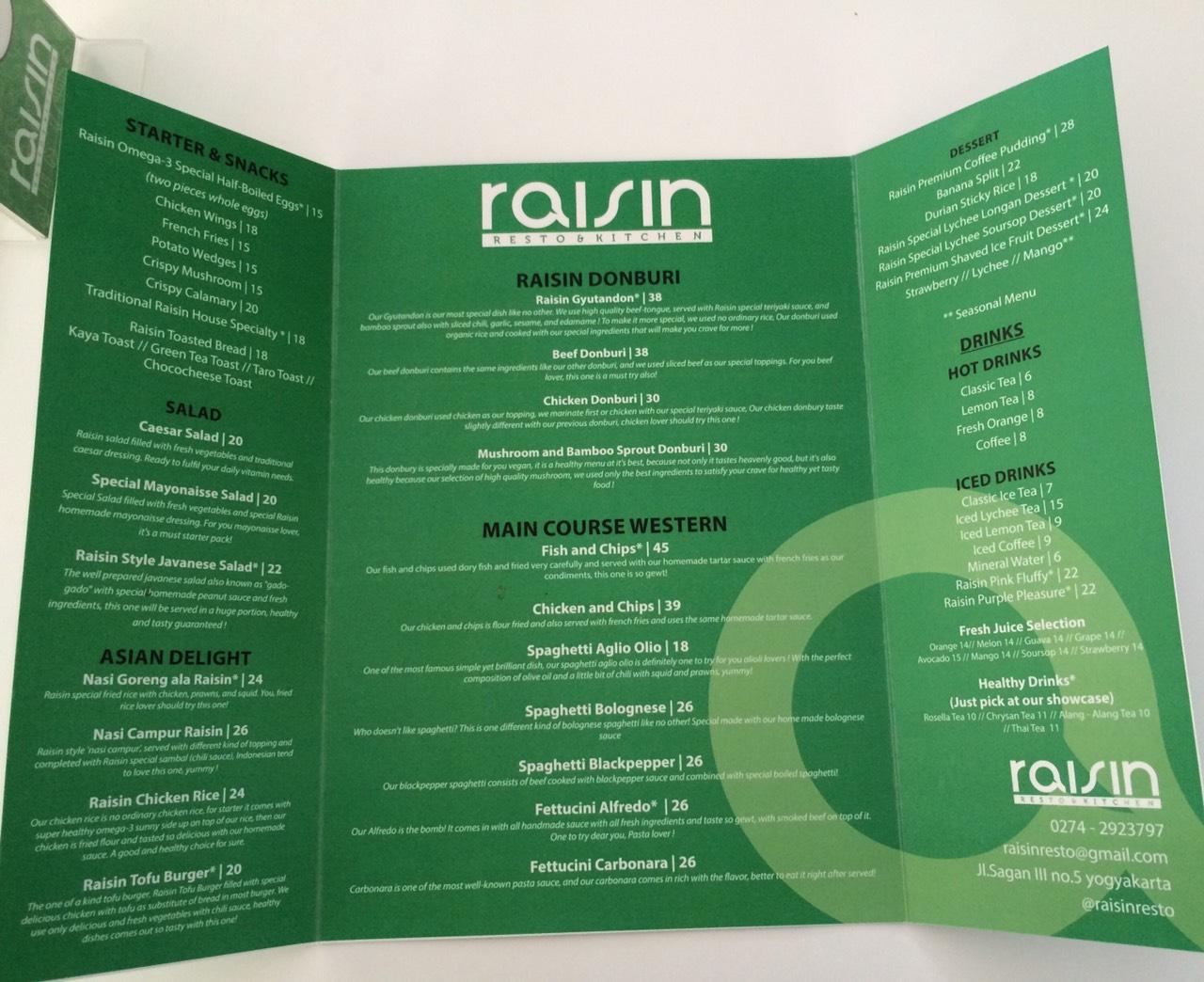 Review raisin resto kitchen for Z kitchen jogja menu