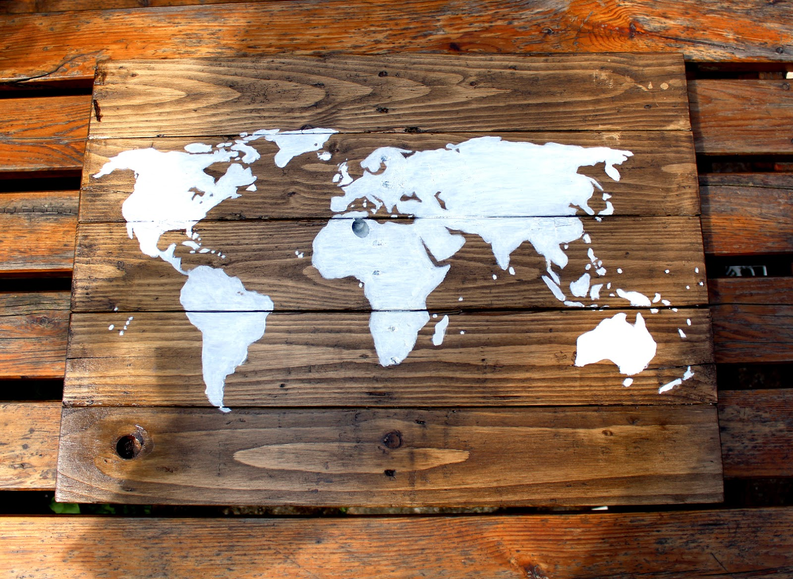 Rustic world map diy once you have made a base and you could just use a piece of wood ply or mdf to make it easier the whole process is a little tedious but ultimately very gumiabroncs Images