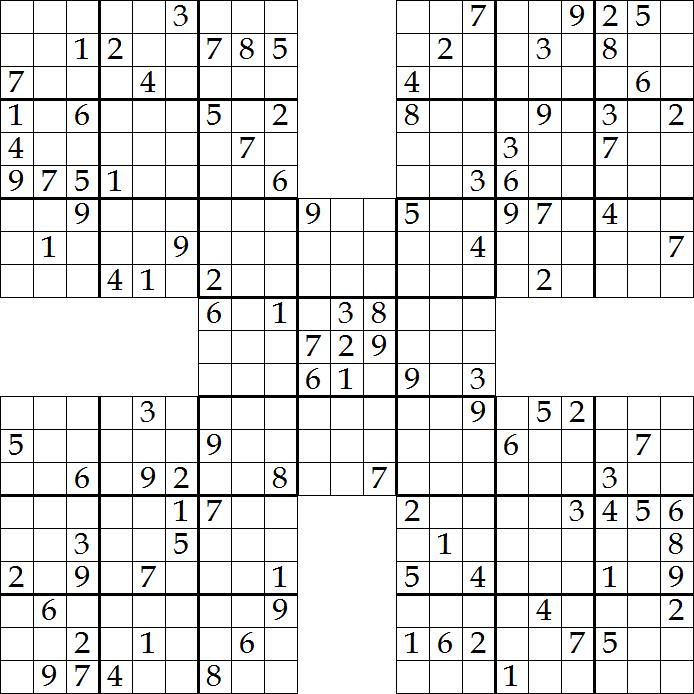 Free Samurai Sudoku