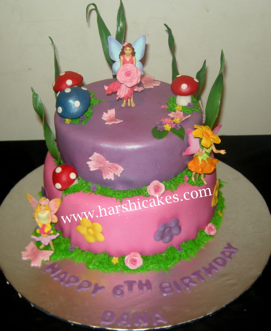 Harshi 39 s cakes bakes pink and purple fairy cake for Fairy cakes