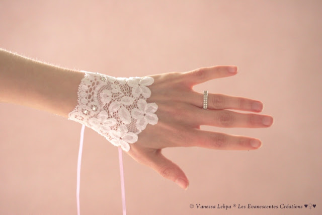 mitaines dentelle haute couture fait main
