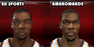 NBA 2K13 Kevin Durant Cyber Face PC Mods