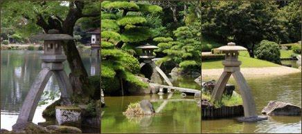 fotos linternas-lamparas-pagodas japonesas Kotoji Gata decoración Parques Areas verdes