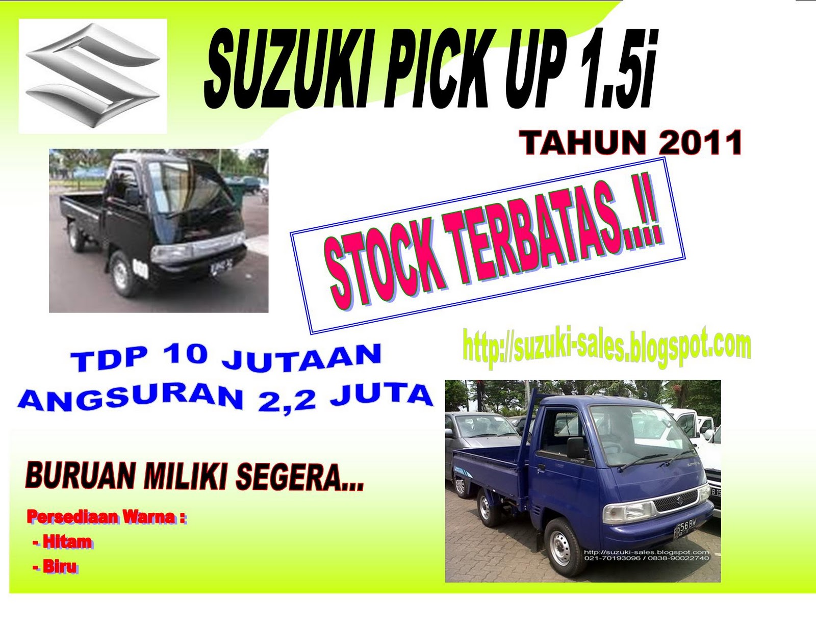 GUDANG SUZUKI GRAND VITARA / SUZUKI MEGA CARRY / SUZUKI CARRY PICK UP  title=