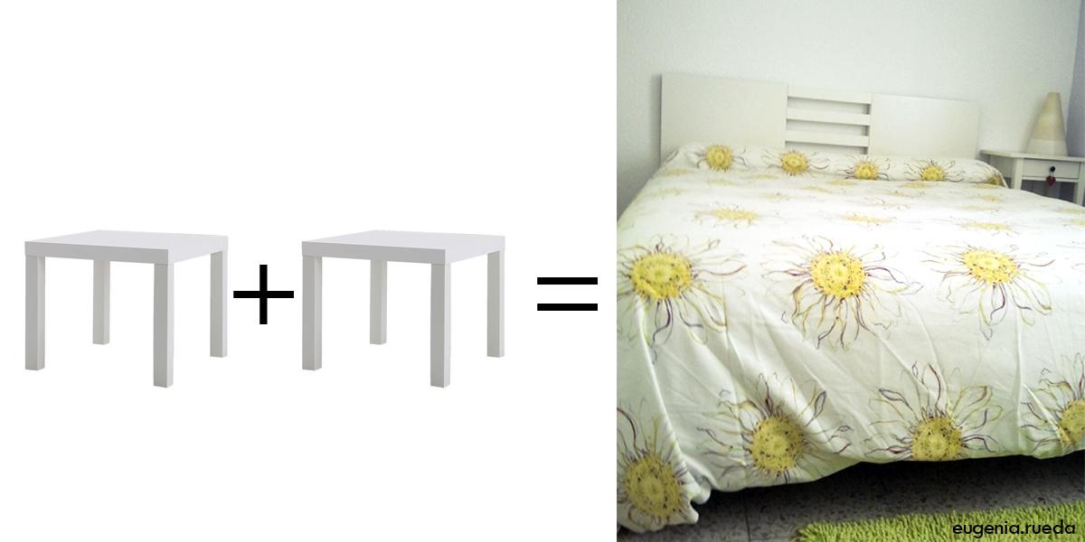 Ikea hack un cabecero con dos mesas lack - Mesa de television ikea ...
