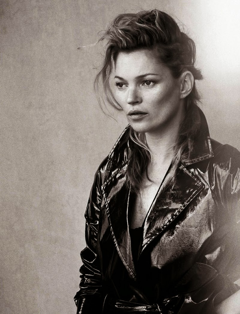 Kate Moss shot by Peter Lindbergh for Vogue Italy January 2015