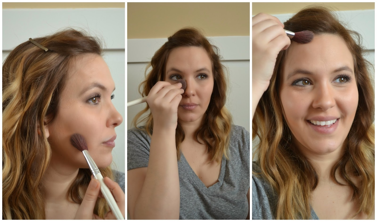 I Use Bare Minerals Concealer In Honey Bisque I Realize It Is A Concealer,  But It Applies So Well As A Contouring Powder I Use Elf's Blending Brush  To