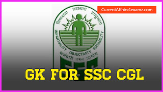 General Knowledge for SSC CGL 2015
