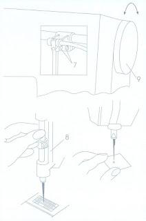 ajuste aguja respecto a transportador