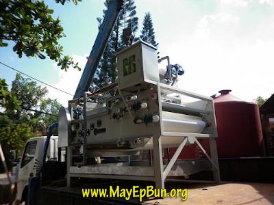 Máy ép bùn băng tải được vận chuyển tận chân công trình, dự án