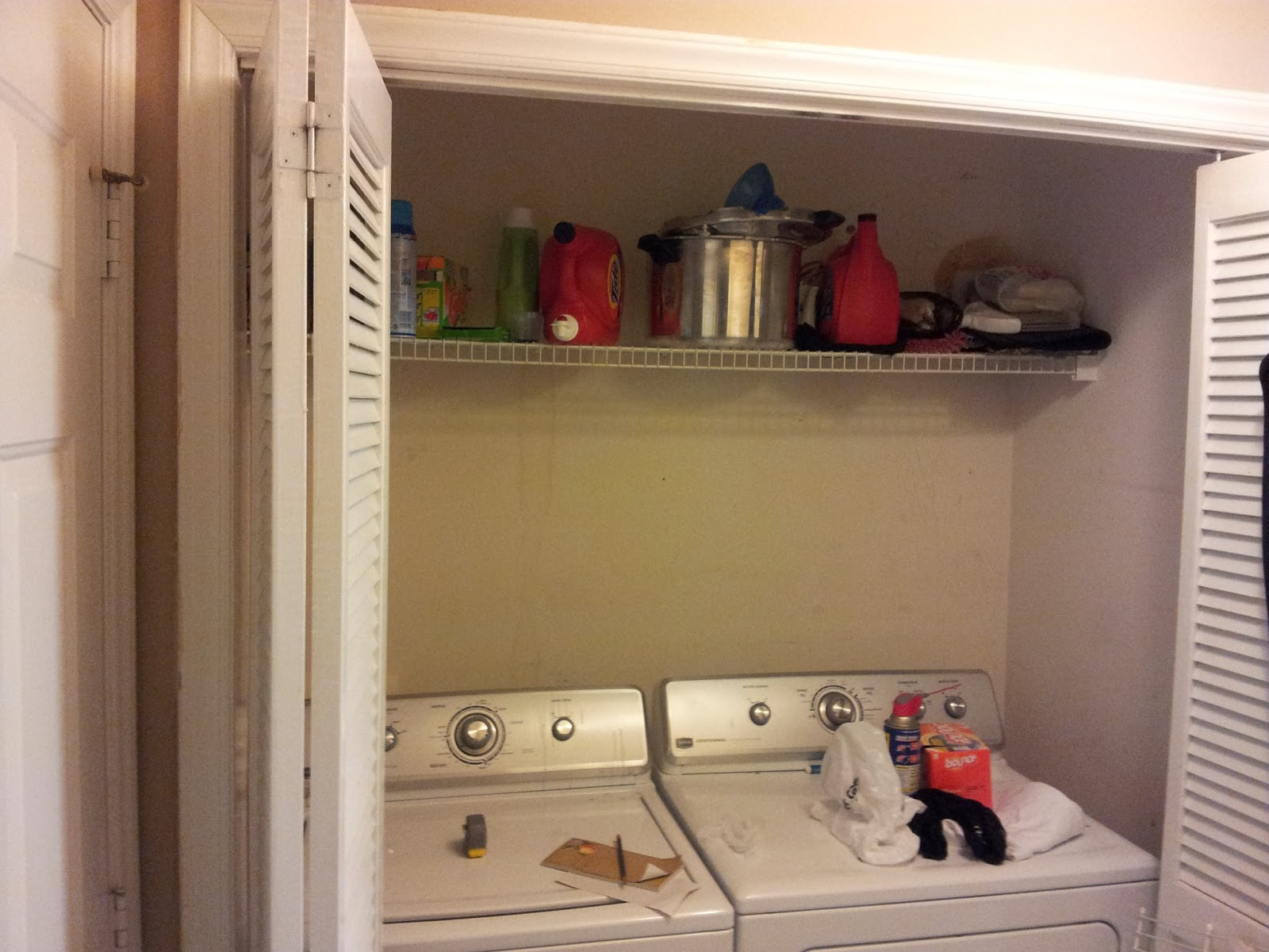 Here Is Our Laundry Room Before Its A Closet Off The Small Hallway Between Garage Door On Left And Kitchen