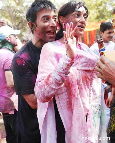 Holi celebration Hot TV actress