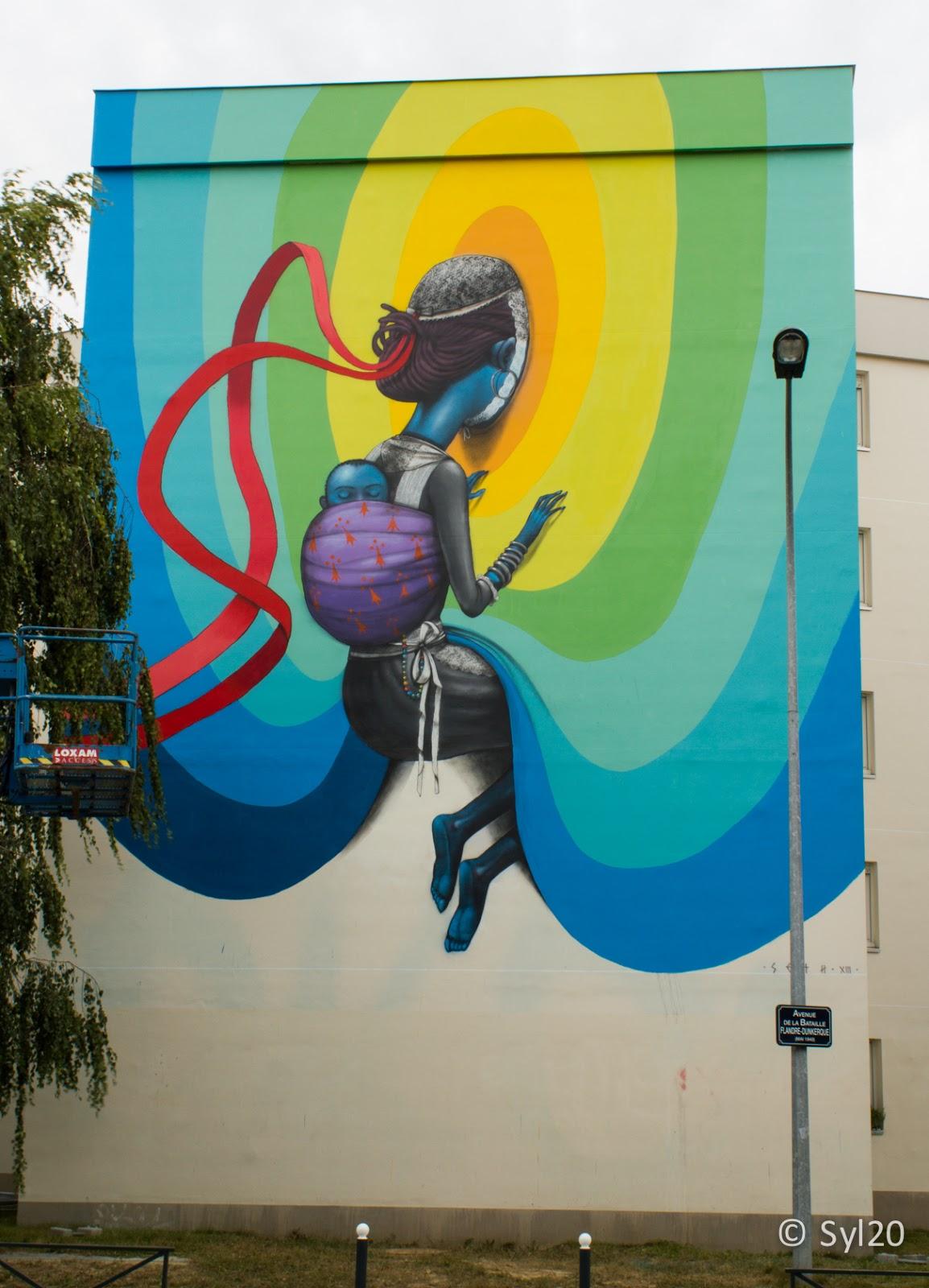 seth new street art for teenage kicks festival in rennes france streetartnews streetartnews. Black Bedroom Furniture Sets. Home Design Ideas