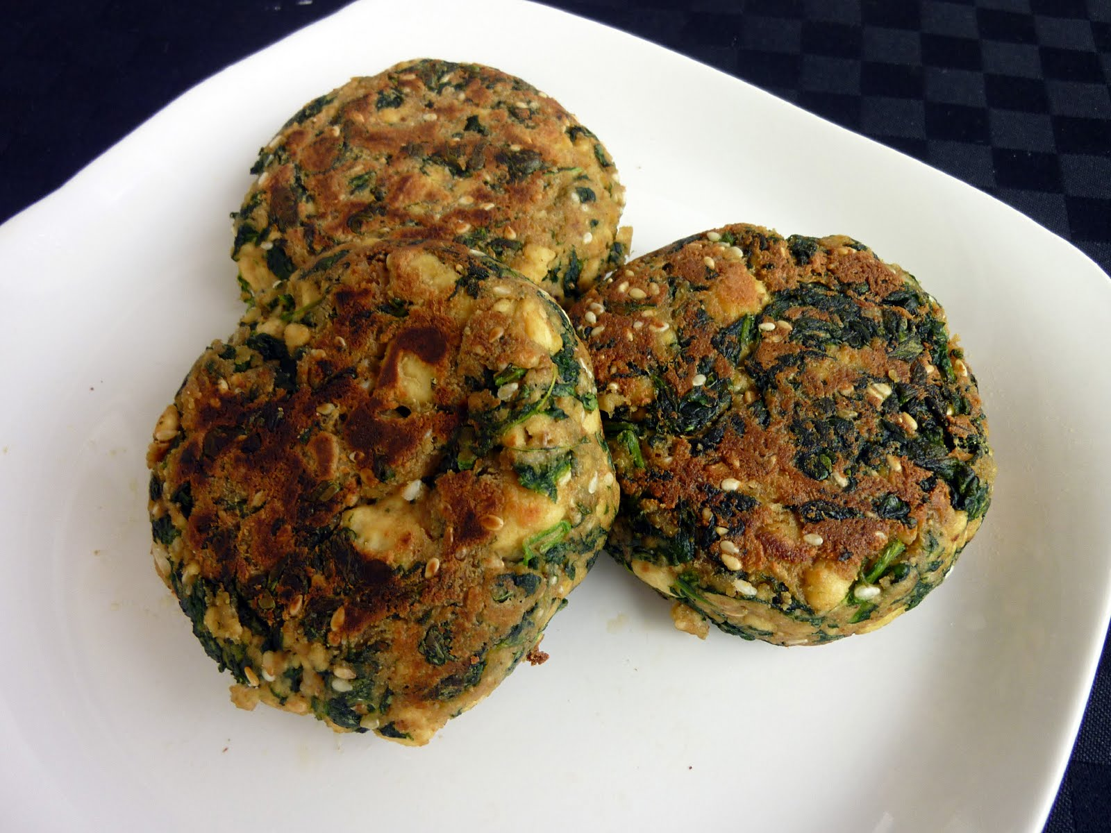 Spinach Tofu Patties