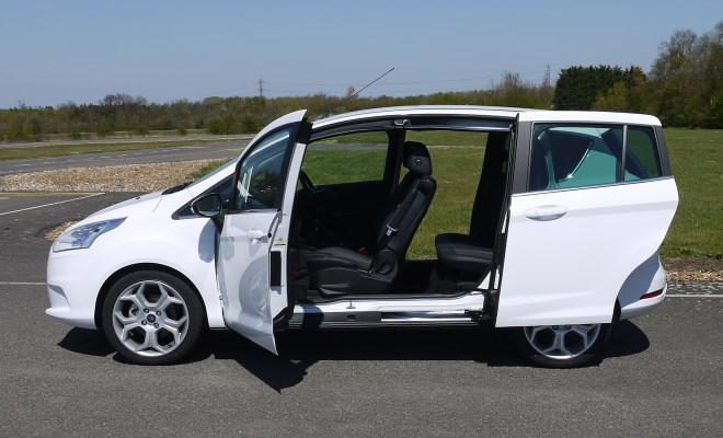 Ford B-Max side view with doors open