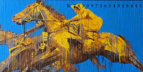 7 horses by Nayanjeet Nikam at Pradarshak, Mumbai
