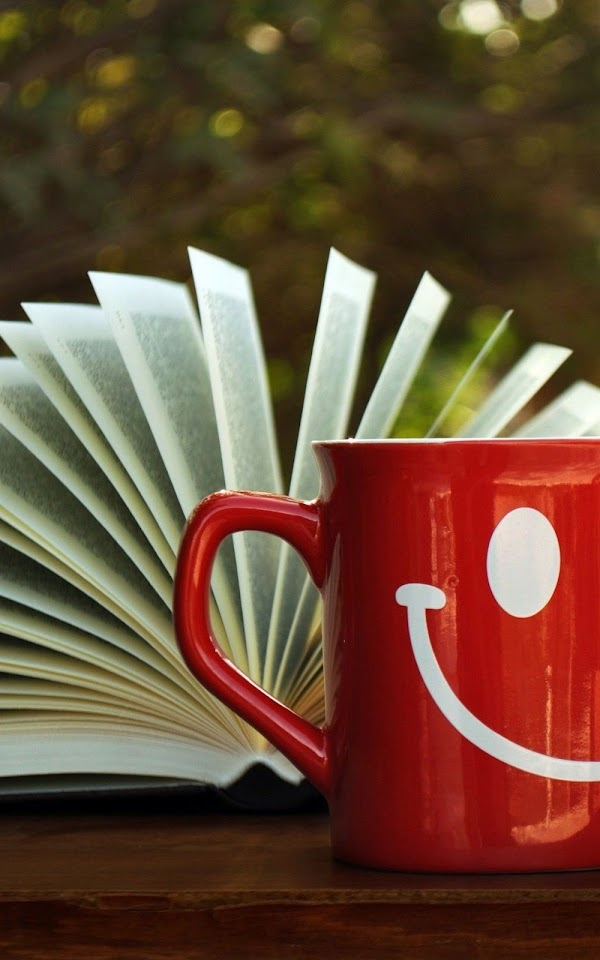 Open Book Red Smile Mug  Galaxy Note HD Wallpaper