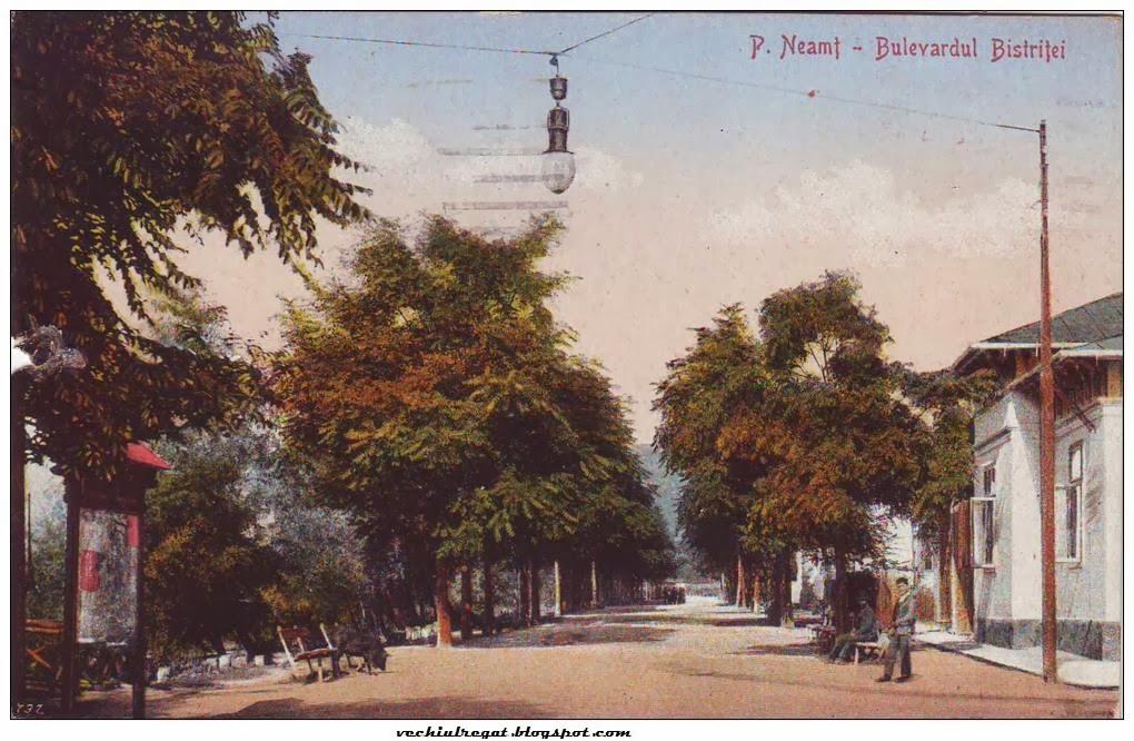 Bulevardul Bistritei din Piatra Neamt de altadata