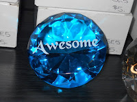 Blue Diamond Shaped Paperweight