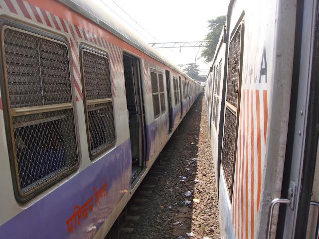 Mumbai Bombay suburban western lines train andheri station