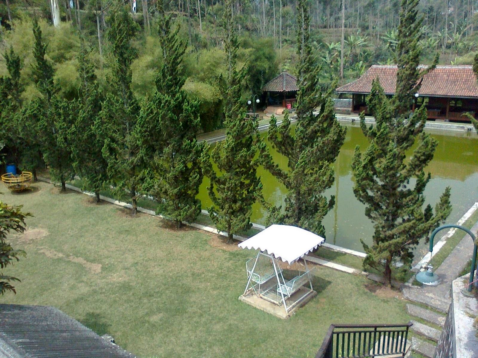 Kolam Pemancingan di Hotel Citere Pangalengan