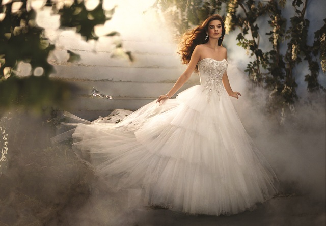 Once upon a blog alfredo angelo launches 2012 disney for Disney princess cinderella wedding dress